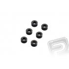 3x6mm podložky - šedé (6 ks.)