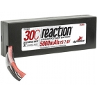 LiPol Reaction Car 7.4V 5000mAh 30C HC Deans