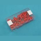 Modelářské špendlíky červená