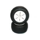 Gumy nalepené, 1:10 TRUGGY, bílé disky (2ks)