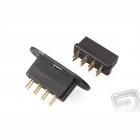 MPX8 konektor �ern� do k��del (1 p�r)