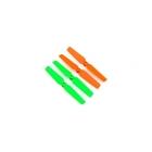 Blade 200 QX: Vrtule 3D oranžové / zelené (4ks)