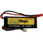 Black Magic LiPol 7.4V 950mAh 35C JST