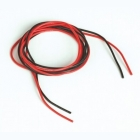Silikonový kabel 0,5qmm, 20AWG, 2x1metr, černý a červený