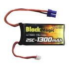 LiPol Black Magic 7.4V 1300m Ah 25C EC3