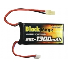 LiPol Black Magic 7.4V 1300mAh 25C Mini Tamiya