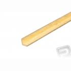 Mosazný profil, L, 2x2mm, 33cm x 5ks