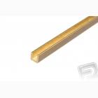 Mosazný profil, U, 2x2mm, 33cm x 5ks