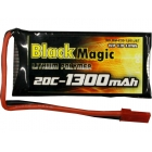 Black Magic LiPol 3.7V 1300mAh 20C JST