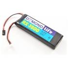 Baterie přijímače LiFe 3200mAh 6.6V 20C
