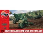 Classic Kit military Bren Gun Carrier and 6pdr Anti-Tank Gun 1:76