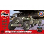 Airfix Willys Jeep, Trailer a 6PDR Gun (1:72)