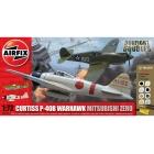 Gift Set letadlo Curtiss P-40B Warhawk Mitsubishi A6M2b Zero 1:72