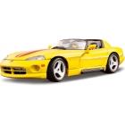 Bburago Dodge Viper RT/10 1:18 žlutá