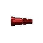 X-Maxx: Hřídel zadních kol červený elox (1)