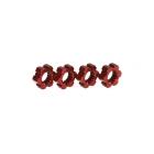 X-Maxx: Náboje kol hliníkové červené s klipy (2)