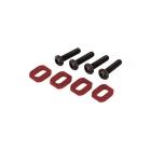 X-Maxx: Podložky pod šrouby motoru hliníkové červené