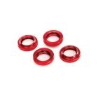 Tlumič GTX: Stavěcí matice pružiny hliníková červená