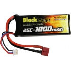 LiPol Black Magic 7.4V 1800mAh 25C Deans