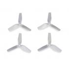 3D prop, třílisté 3,8x3,5 vrtule, 4ks. - bílé
