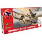 Airfix Junkers Ju-87R-2, Gloster Gladiator Mk.I (1:72)