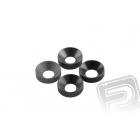 Kónická podložka 3x6.9x2mm šedá (6 ks.)