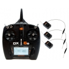 Spektrum DX6e DSMX Mód 1-4, 3x AR610