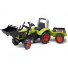 FALK - Šlapací traktor Claas Arion 430 s nakladačem a vlečkou