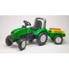 FALK - Šlapací traktor Farm lander Z240X s vlečkou zelený