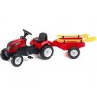 FALK - Šlapací traktor Garden master červený s vlečkou + lopatka a hrábě