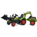 FALK - Šlapací traktor FALK 2070 Claas Arion 430 s nakladačem, rypadlem a vlečkou