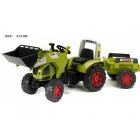 FALK - Šlapací traktor Claas Axos s nakladačem a vlečkou