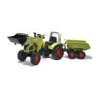 FALK - Šlapací traktor Claas Arion 540 s nakladačem a vlečkou