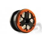 CNC 2.2 Comp Beadlock kroužky, oranžové (2 ks.)