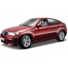 Bburago BMW X6 M 1:18 červená metalíza