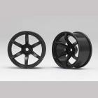 Racing Performer Driftovací disky 6 paprsků 02 (6mm Offset/Černé/2ks)