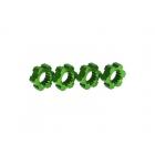 X-Maxx: Náboje kol hliníkové zelené s klipy (2)