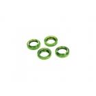 Tlumič GTX: Stavěcí matice pružiny hliníková zelená (4)
