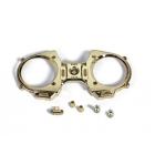 MZ-12 přední čelo, vypínač a hliníkové knyply - (zlatá)